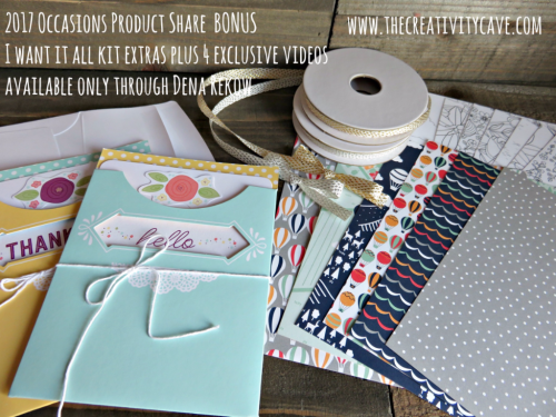 2017 Occasions Catalog BONUS Share order today on my blog: www.thecreativitycave.com #stampinup #thecreativitycave #productshares