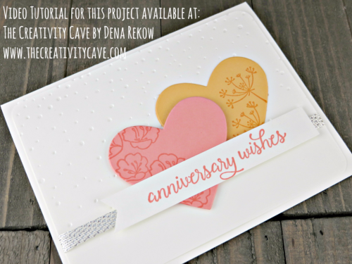 Check out the video tutorial for this card plus more ideas on my blog: www.thecreativitycave.com using Stampin Up's Falling for You Stamp Set #stampinup #thecreativitycave #fallingforyou