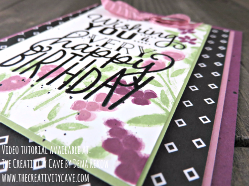 Video tutorial with great tips and the inspiration for this card using Stampin Up's Number of Years and Big on Birthday Stamp sets on my blog: www.thecreativitycave.com #stampinup #thecreativitycave #bigonbirthdays #numberofyears