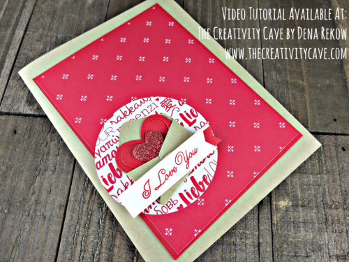 Great Video tutorial with alternate look on my blog: www.thecreativitycave.com using Stampin Up's Sealed with Love Bundle and Sending Love DSP Stack! #stampinup #thecreativitycave #sendinglove #sealedwithlove