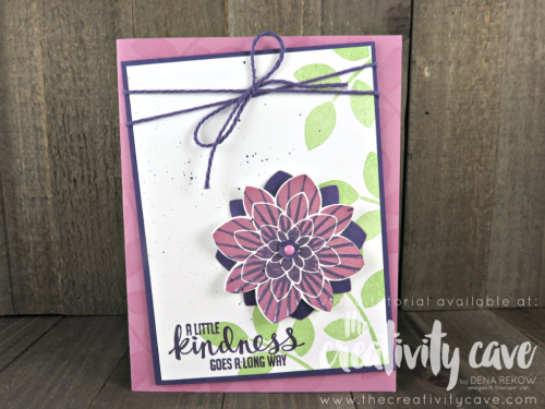Check out the video tutorial for this fun card that uses the kissing technique with Stampin UP's Crazy About You and Kinda Eclectic Stamp Sets on my blog, www.thecreativitycave.com #stampinup #thecreativitycave #crazyaboutyou