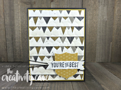 My video tutorial teaches you how easy it is to create this awesome (and easy) Masculine Card using Stampin Up's Urban District Stamp set and Hexagon Dynamic Embossing Folder at www.thecreativitycave.com #stampinup #masculinecard #urbanunderground #urbandistrict