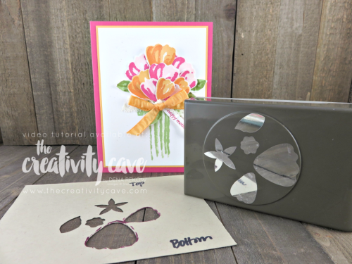 Check out the video tutorial for this BEAUTIFUL Mother's Day Card created with Stampin Up's Bunch of Blossoms Stamp Set with coordinating punch it is so easy on my blog: www.thecreativitycave.com #stampinup #thecreativitycave #mothersday