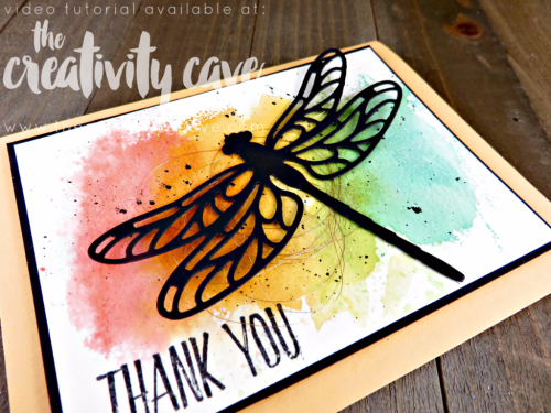 Check out the FB Live where I preview some projects from the upcoming 2017-18 Stampin Up Catalog and teach you some fun projects on my blog www.thecreativitycave.com #stampinup #thecreativitycave #fblive #dragonflyframelits #watercolor