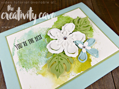 Check out the FB Live where I preview some projects from the upcoming 2017-18 Stampin Up Catalog and teach you some fun projects on my blog www.thecreativitycave.com #stampinup #thecreativitycave #fblive #botanicalbuliderfrmelits #watercolor