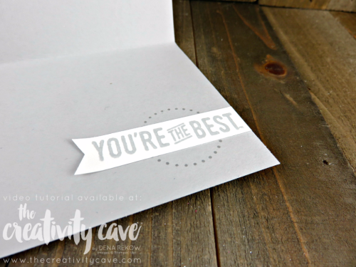 Check out the video tutorial for this adorable card using Stampin Up's Eastern Beauty Stamp set and Large Letter Framelits on my blog: www.thecreativitycave.com #stampinup #thecreativitycave #easternbeauty #urbandistrict