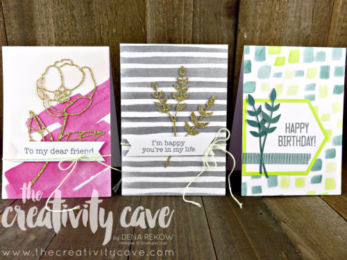 Check out this week's FB Live Video showcasing projects from the Soft Sayings Card Kit, Ribbon of Courage Stamp Set, and Lots of Love Stamp Sets. Lots of pics on blog post, too!  www.thecreativitycave.com #stampinup #softsayings #lotsoflovestampset #watercolor #happybirthdaythinlits