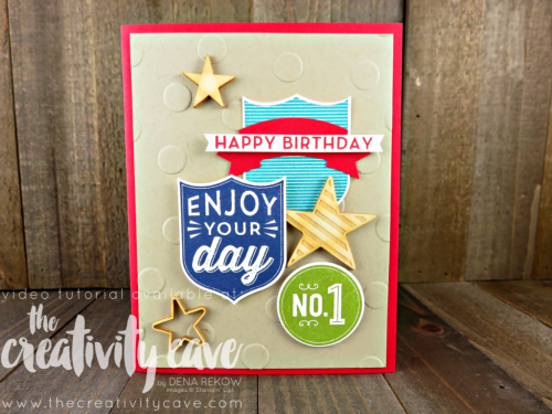 WWYCheck out the video tutorial with great tips on creating this awesome project using Stampin Up's Badges and Banners Stamp Set on my blog: www.thecreativitycave.com #stampinup #thecreativitycave #badgesandbannersS Badges and Banners 2