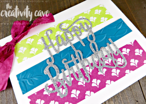 Check out my video tutorial for this adorable and SUPER easy card using Stampin Up's Happy Birthday Gorgeous Stamp set and coordinating Happy Birthday Thinlit on my blog at www.thecreativitycave.com #stampinup #thecrativitycave #happybirthdaygorgeous
