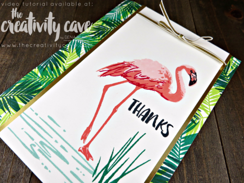 Check out the Facebook Live Video for this card plus several others using new products from the 2017-18 Stampin Up Annual Catalog #stampinup #thecreativitycave #fblive #fabulousflamingostampset
