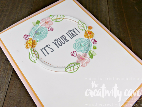 Check out my video tutorial for this beautiful card using Stampin Up's Happy Birthday Gorgeous Stamp Set--don't forget to register for my online class for this bundle when you are on my blog: www.thecreativitycave.com #stampinup #thecreativitycave #happybirthdaygorgeous