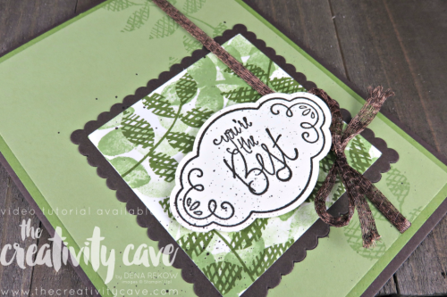 Join me for a great video tutorial as I teach you just how quick and easy this card comes together using the Label Me Pretty Stamp Set and Pretty Label Punch plus the Oh So Eclectic Stamp set on my blog www.thecreativitycave.com #stampinjup #thecreativitycave #labelmepretty