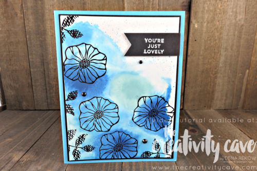 Check out my Facebook Live video on my blog for the fun (AND EASY) technique for making this cool background at www.thecreativitycave.com with Stampin Up's Oh So Eclectic, Happy Birthday Gorgeous and Lovely Inside and Out Stamp Sets #stampinup #ohsoeclectic #thecreativitycave