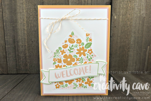 Check out my Friday Quickie Techniques and Tips Video for this fun and easy technique: Embossing With Framelits using Stampin Up's Welcome Home Thinlits and Home Life Stamp Set on my blog at www.thecreativitycave.com #stampinup #thecreativitycave #Homelifebundle