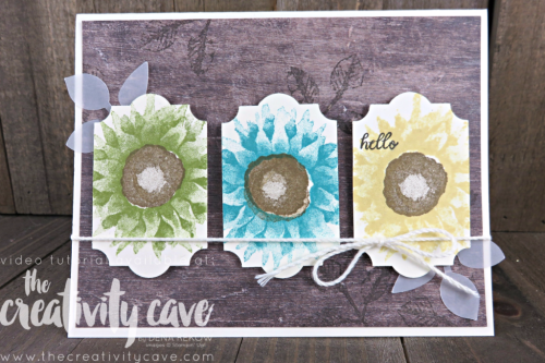 Great Video with lots of tips and tricks for this gorgeous card using Stampin Up's Painted Harvest Stamp set and Everyday Label Punch paired with our Wood Textures DSP (on the buy 3 get 1 free) on my blog at www.thecreativitycave.com #stampinup #thecreativitycave #paintedharvest #woodtexturesdsp #everydaylabelpunch