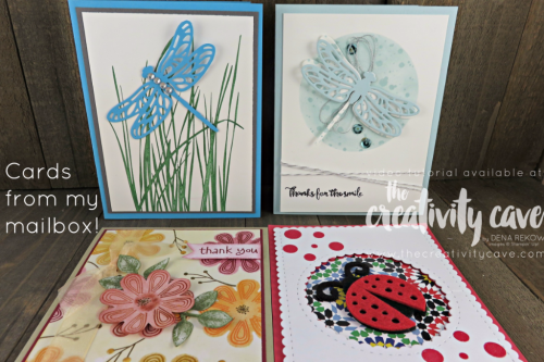 Beautiful Cards that were sent to me and I had to share!  More at www.thecreativitycave.com #stampinup #thecreativitycave #handmadegreetingcards #fblive