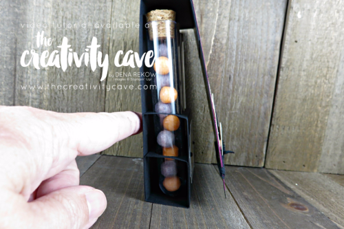 Check out this ADORABLE treat tube Holder Using Stampin Up's Pick A Pumpkin stamp set and Marbled Background.  Video tutorial available on my blog at www.thecreativitycave.com #stampinup #thecreativitycave #creepitreal #pickapumpkin #treattube #halloween #halloweentreatholder
