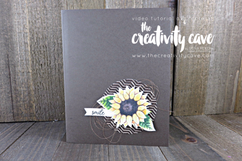 Check out the FaceBook Live Replay and the 4 different cards I created using Stampin Up Products including this adorable card on my blog at www.thecreativitycave.com #stampinup #thecreativitycave #handmadegreetingcards #cardmaking #rubberstamping #paintedharvest #Printedpaper