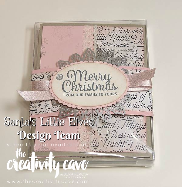 Create this gorgeous boxed set of Christmas Cards as Part of my Santa's Little Elves Project Series Every Friday through Christmas on my blog at www.thecreativitycave.com Using Stampin Up's Snowflake Sentiments, Colorful Seasons Stamp Sets and Merry Music DSP along with those gorgeous Foil Snowflakes!  #stampinup #handmadegreetingcards #MerrymusicDSP #Snowflakesentiments #Colorfulseasons #foilsnowflakes