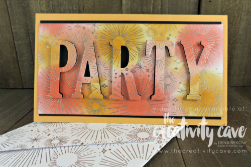Eclipse Cards on my Facebook Live!  Check out the video and additional cards on my blog at www.thecreativitycave.com #stampinup #thecreativitycave #handmadegreetingcards #cardmaking #eclipsecards #eclipsetechnique #cheerstotheyeardsp #largeletterframelits