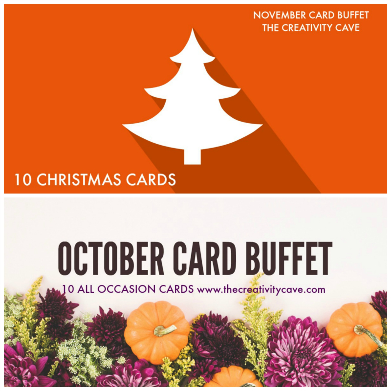 Oct Nov Card Buffet