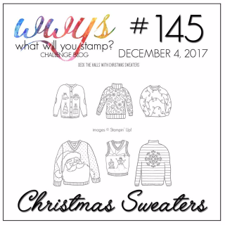 Check out my video tutorial for an adorable card using Stampin Up's Christmas Sweaters Stamp Set and Stampin Blends on my blog at www.thecreativitycave.com #stampinup #thecreativitycave #christmassweaters #stampinblends #alcoholmarkers #christmas #cardmaking #handmade