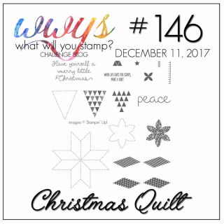 Check out the video tutorial for Stampin Up's Christmas Quilt Stamp Set and an adorable card on my blog at www.thecreativitycave.com #stampinup #thecreativitycave #handmadegreetingcards #christmas #christmasquilt #bigshot #quilting