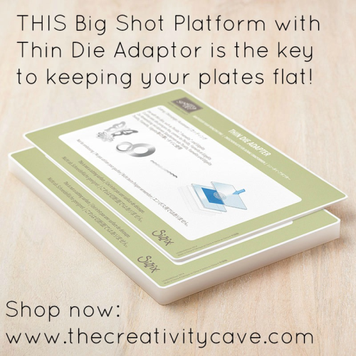 Video tutorial for how to keep your Big Shot Cutting plates FLAT!  All the details on my blog at www.thecreativitycave.com #stampinup #thecreativitycave #bigshot #fridayquickies #easternpalace #easternbeauty #Easternmedallionframelits #tips #crafting #diecutting #sizzix #cardmaking #rubberstamping