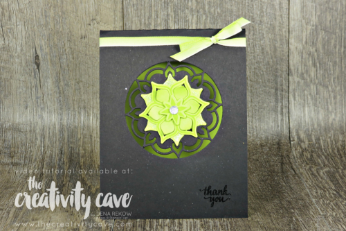 Video tutorial for how to keep your Big Shot Cutting plates FLAT! Along with this gorgeous card using Stampin Up's Eastern Beauty Bundle-- All the details on my blog at www.thecreativitycave.com #stampinup #thecreativitycave #bigshot #fridayquickies #easternpalace #easternbeauty #Easternmedallionframelits #tips #crafting #diecutting #sizzix #cardmaking #rubberstamping