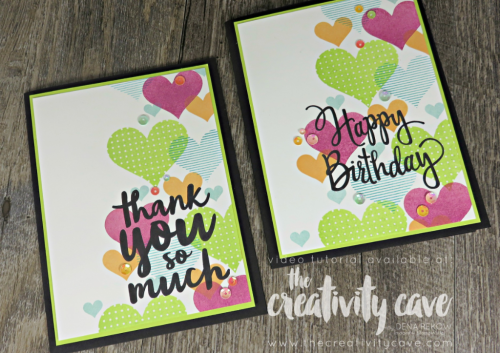 Check out my FB Live where we make Black and White with a pop of color cards filled with excellent tips and tricks and we always have fun!  www.thecreativitycave.com #stampinup #thecreativitycave #fblive #hearthappiness #thankyou
