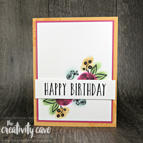 Fabulous Video Tutorial for this fantastic card plus two more highlighting 3 different coloring techniques on my blog at www.thecreativitycave.com #stampinup #thecreativitycave #coloring #cardmaking #papercrafts #rafting #diy #rubberstamping #stamping #perennialbirthday