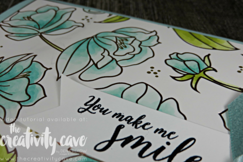 Fabulous Video Tutorial for this fantastic card plus two more highlighting 3 different coloring techniques on my blog at www.thecreativitycave.com #stampinup #thecreativitycave #coloring #cardmaking #papercrafts #rafting #diy #rubberstamping #stamping #springtimefoilsdsp #stampinblends #alcoholmarkers