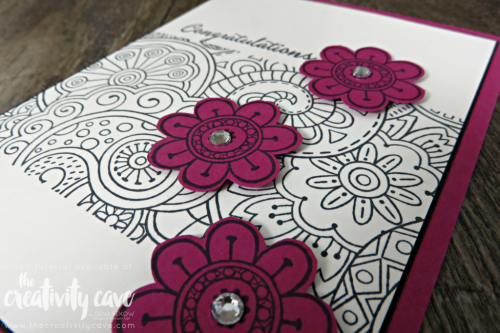 Check out the projects with video from my FaceBook Live Session including this and several other cards using Stampin Up Products on my blog at www.thecreativitycave.com #stampinup #thecreativitycave #create #handmadegreetingcarsd #rubberstamping #videotutorial #hellocolor #quickandeasy