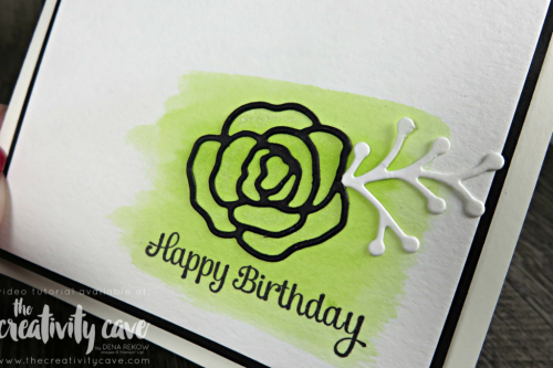 Check out this and 4 other fun cards that I created during my March 19th Facebook Live on my blog at www.thecreativitycave.com using Stampin Up's Bubble Over, Cake Soiree, Eclectic Expressions, and Daisy Delight Stamp Sets from Stampin Up! #stampinup #fblive #bubbleandfizzdsp #daisydelight #cakesoiree #create #watercolor #thecreativitycave #creativity