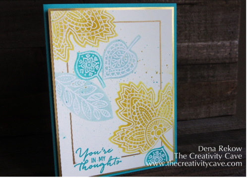 Friday Quickie: Framelit Stencils with Lighthearted Leaves and Leaflet Framelits by The Creativity Cave