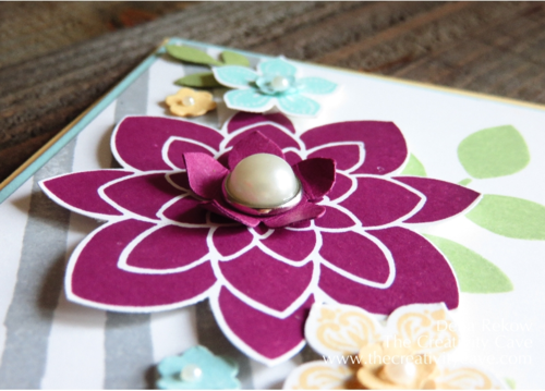 Crazy About You Flower from Stampin Up's Watercolor Wishes Card Kit Inspired CASE with GDP#006