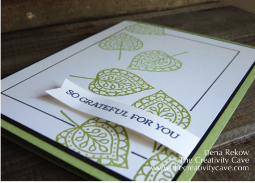 Stampin Up Lighthearted Leaves Frame