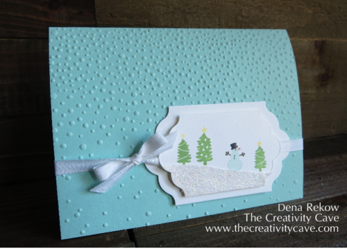 Jingle All The Way and Sleigh Ride Edgelits make this adorable snowman card!