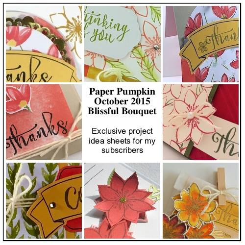 October Preview of exclusive project sheets provided to paper pumpkin subscribers when you sign up with Dena Rekow