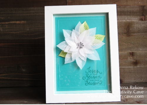 Stampin Up's Reason for the Season stamp set with the Festive Flower Builder Punch makes for gorgeous card and gift giving!