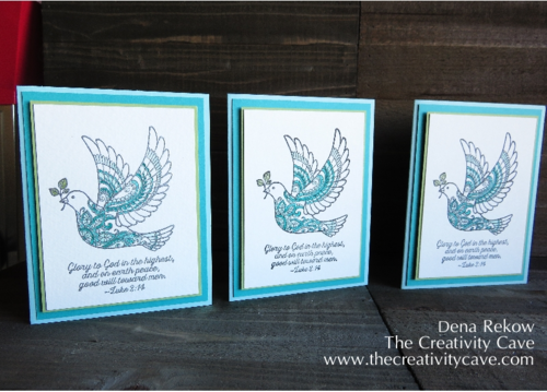 Gettin Inky with It:  Stamped 3 Ways: Stampin Up's Dove of Peace