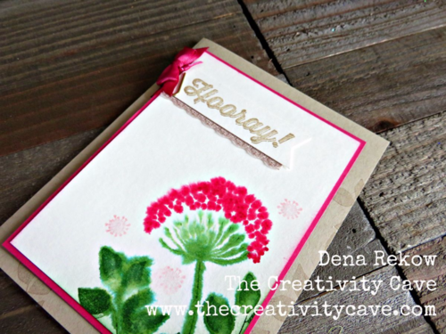 Stampin Up's Summer Silhouettes and Perfect Pairings make a beautiful card with a watercolor technique--watch the video on my blog!