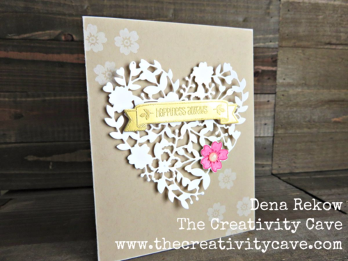 Learn how to create this gorgeous card and a great way to cut the intricate die using Stampin Up Bloomin Love and Die Brush with my Video Tutorial on my blog.