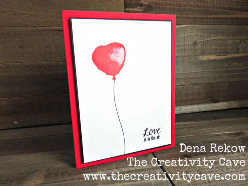 Simple and gorgeous card using Stampin Up's Balloon Builder Stamp set