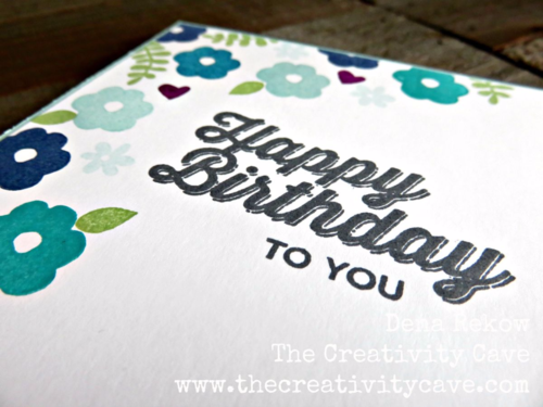 Gorgeous in shades of blue card using Stampin Up's Endless Thanks and Perfect Pairings Saleabration Sets.