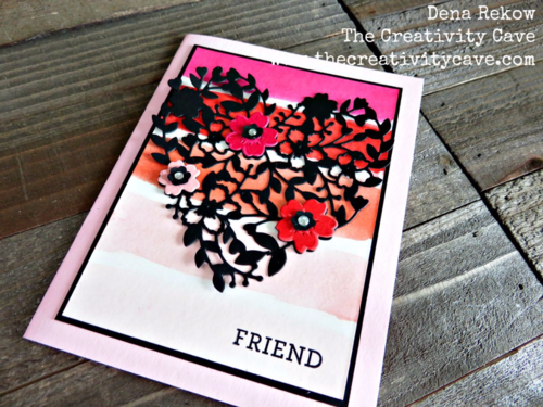 Stampin Up's Bloomin Love Bundle makes a gorgeous, vivid, card for anyone on your list!  Video tutorial on my blog!
