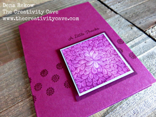 Check out how cool the Magic Stamping Technique is using Stampin Up's I Think You're Great Stamp Set.  Video tutorial on my blog with lots more samples!
