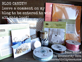 BLOG CANDY!!  Leave a comment on my blog and get entered to win all this loot from me!