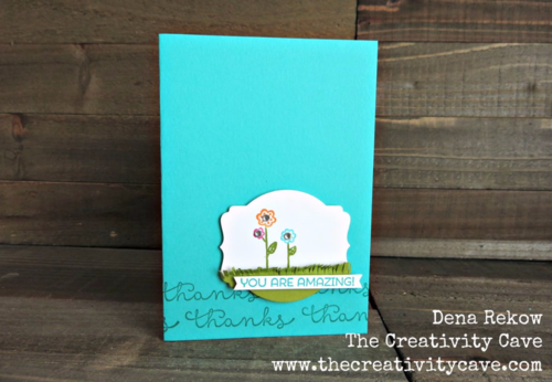 Sweet card using Stampin Up's Cottage Greetings Stamp set with the Deco Label Framelits.  Video Tutorial on my blog!