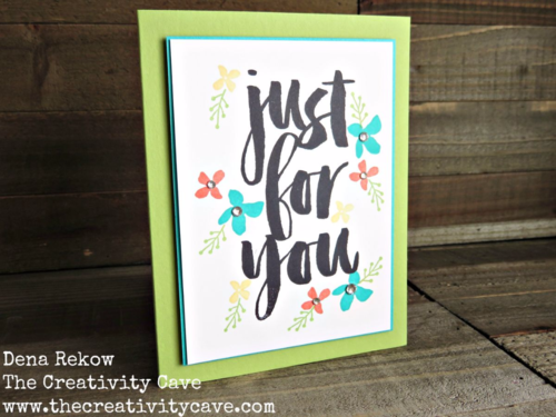 Check out how easy it is to make this simple Botanicals For You Card!  Best part is the stamps are FREE with a $50 order in my online store!!